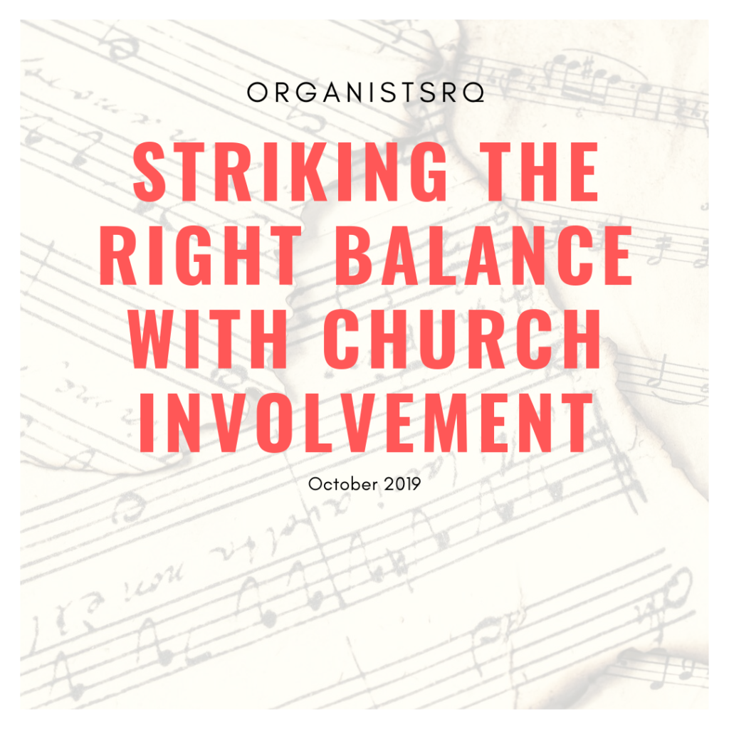 Right balance in church involvement